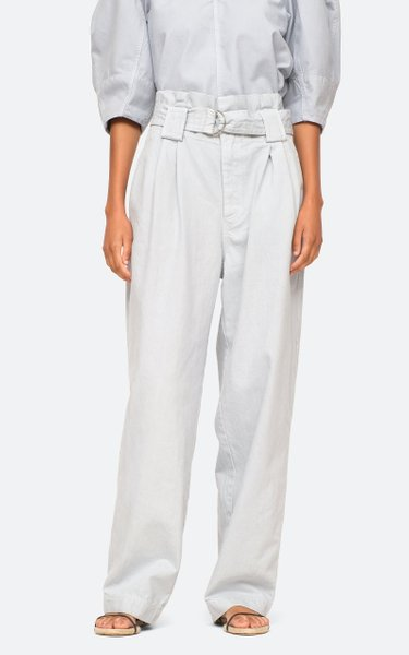 Cara Belted Twill Pants