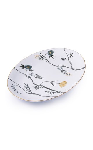 Extra-Large Painted Porcelain Oval Platter