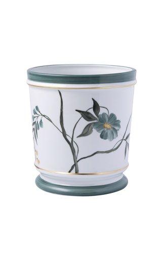 Medium Painted Porcelain Flower Pot
