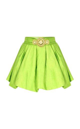 Gold Buckle Detailed Mini Skirt