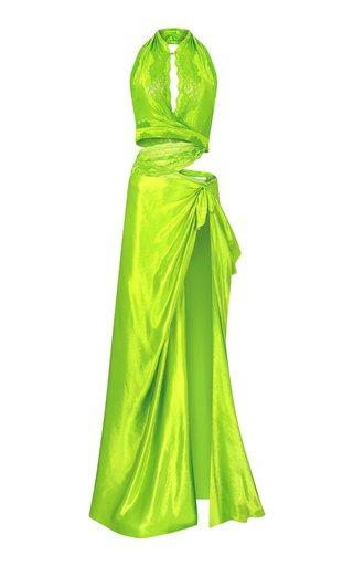 Halterneck Cut Out Maxi Dress