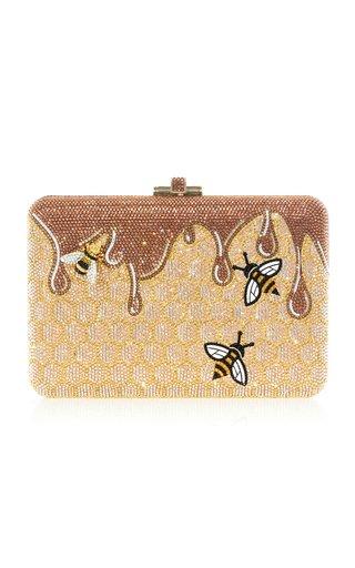 Honeycomb Crystal Novelty Clutch