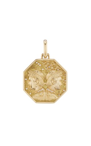 18K Yellow Gold Gemini Zodiac Charm