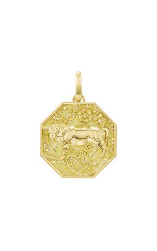 18K Yellow Gold Taurus Zodiac Charm