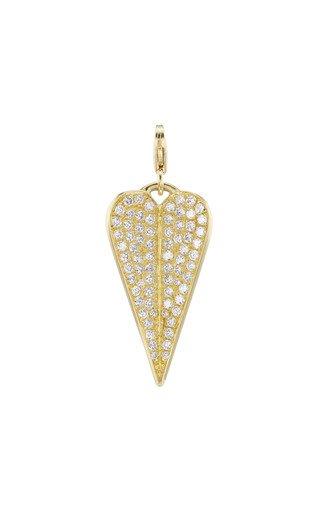 18K Yellow Gold Eros Folded Heart Charm