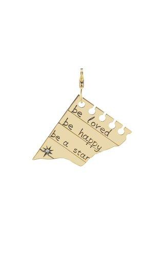 18K Yellow Gold  Star Word Char,