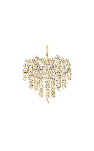 14K Yellow Gold Large Fringe Articulated Diamond Charm