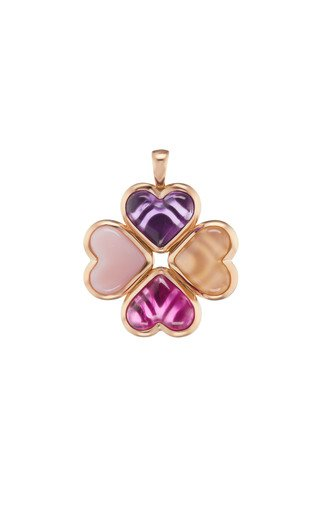 14K Rose Gold Lucky Charm Pendant