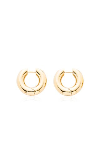 Alaya Small Gold-Plated Hoop Earrings