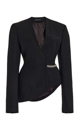 Oversized Shoulder Wool-Blend Jacket