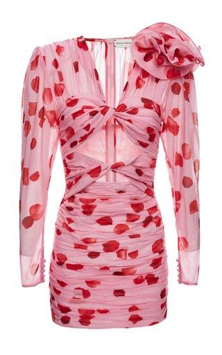 Printed Silk Mini Dress