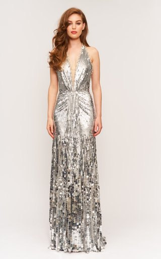 Mars Beaded Tulle Gown