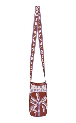 x Mayorga Vida Beaded Tropical Print Shoulder Bag