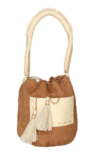 Canto De Color Woven Raffia Top Handle Bag