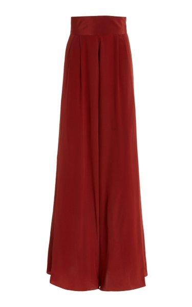 Laudable Silk Wide-Leg Pants