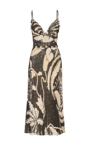Espacio Sideral Silk Midi Dress