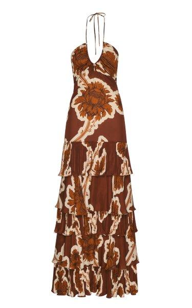 Amorous Encounter Ruffled Maxi Dress