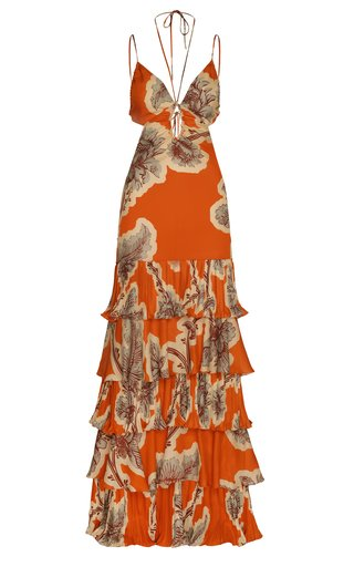 Naranjo En Flor Ruffled Maxi Dress