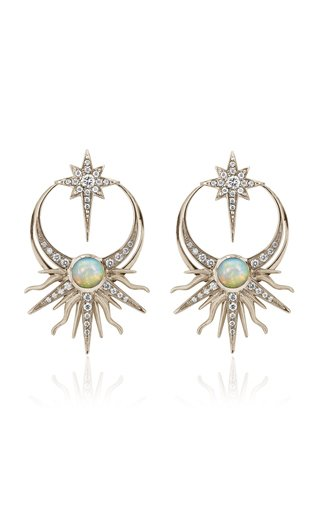 18K White Gold Matahari Earrings
