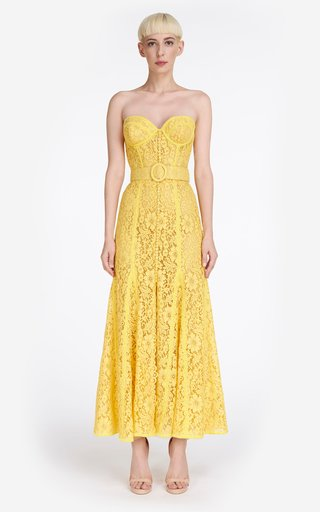 Sharie Lace Bustier Maxi Dress