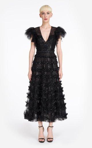 Myra Sparkling Glitter Tulle Maxi Dress