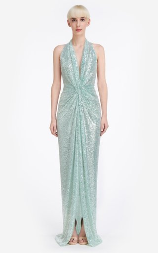 Whitney Sequin Embroidered Tulle Gown