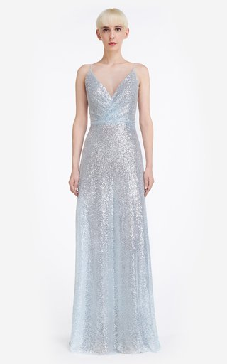 Kristina Sequin Tulle Gown