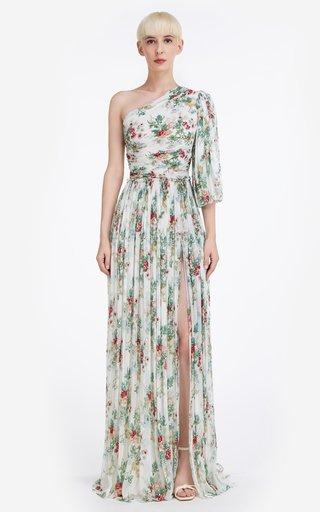 Britney Asymmetric Sequin Georgette Gown