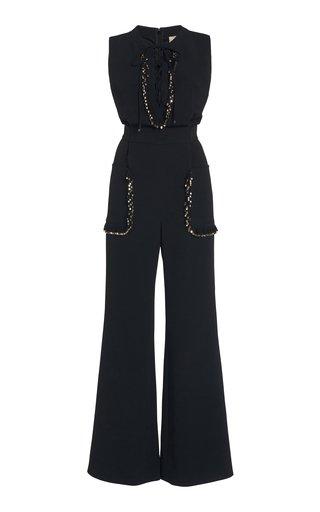 Embellished Cady Jumpsuit