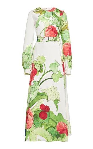 Printed Cady Maxi Dress