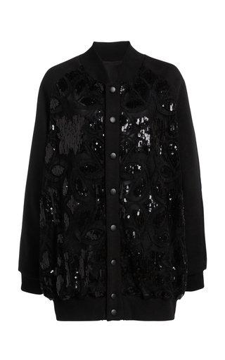 Embroidered Cotton-Blend Bomber Jacket