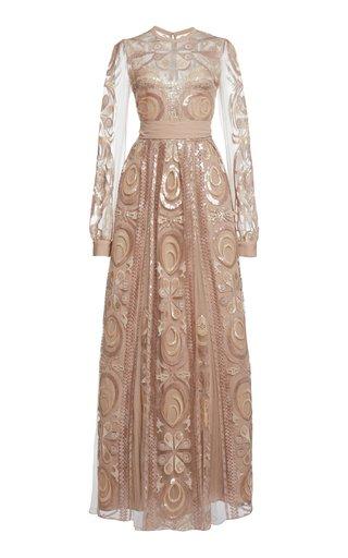 Sequin-Embellished Maxi Dress