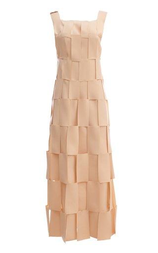Spliced Paneled Midi Dress