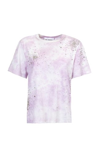 Embroidered Jersey Tie-Dye T-Shirt