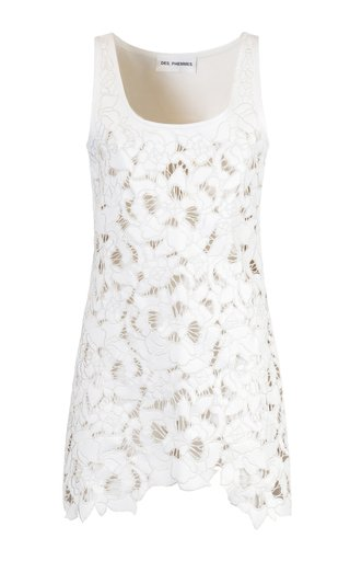 Hand Embroidered Eco-Leather Mini Dress