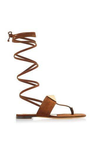 Valentino Garavani One Stud Lace-Up Thong Sandals