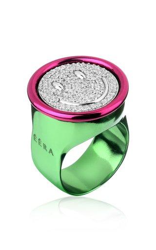 18K White Gold Smile Ring