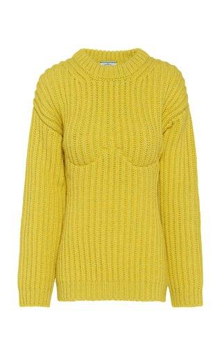 Bra-Detailed Virgin Wool Sweater